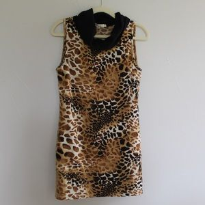 Animal print mini dress! Size large.